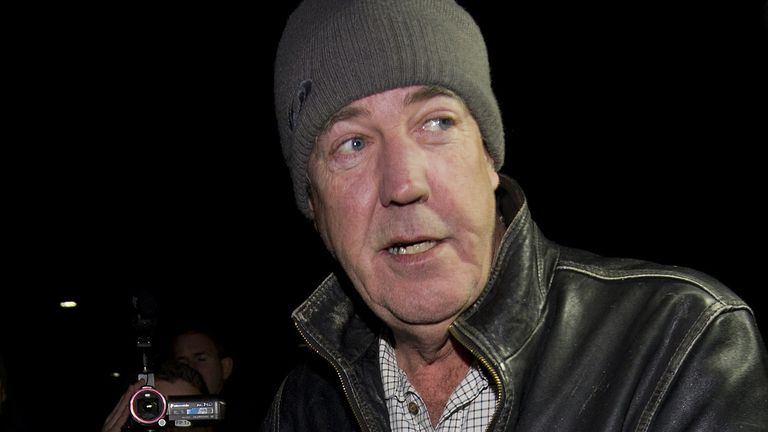 British TV presenter Jeremy Clarkson leaves his flat in west London on March 25