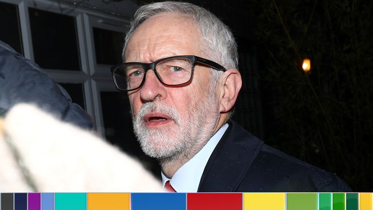 Downcast Corbyn returns home after disastrous night