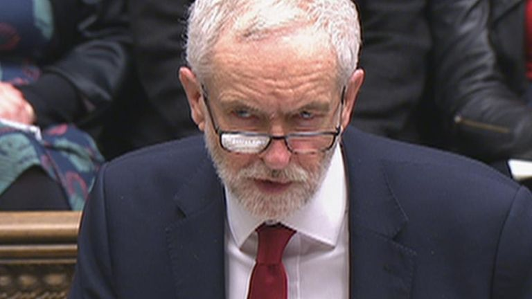 Jeremy Corbyn ends his speech on the EU Withdrawal Agreement Bill to rapturous laughter from the government benches