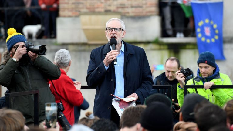 Jeremy Corbyn held a rally in Bristol on the third final day of the campaign
