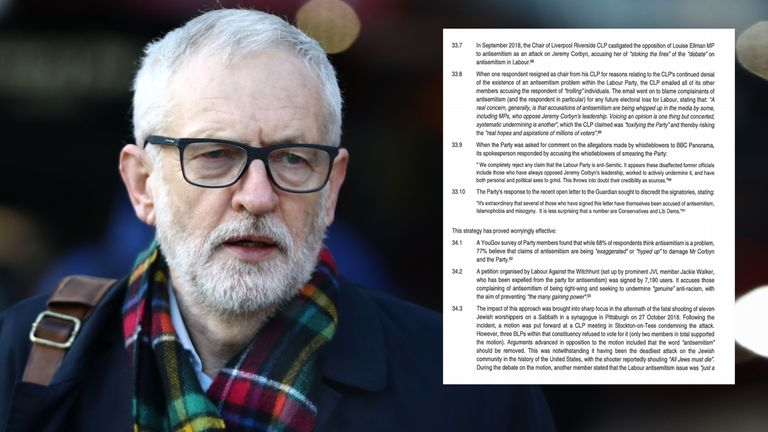 "Jeremy Corbyn has made Labour a ""welcoming refuge"" for antisemitism, according to a dossier submitted to the Equalities and Human Rights Commission"