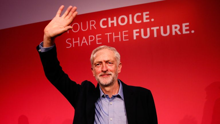 Jeremy Corbyn elected Labour leader in September 2015