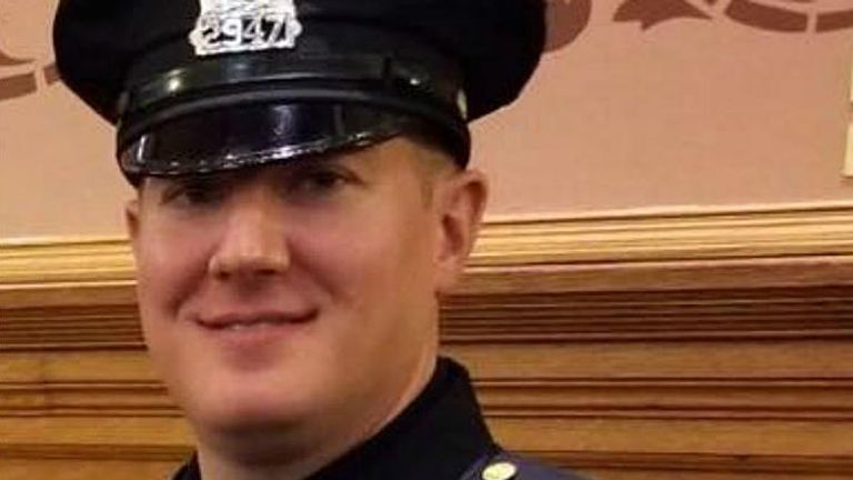 Jersey City Detective Joe Seals had been tasked with getting illegal guns off the streets Pic: Laura Seals/ Facebook