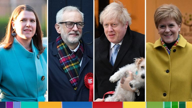 Jo Swinson, Jeremy Corbyn, Boris Johnson and Nicola Sturgeon have all voted