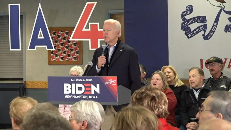 Joe Biden gets into spat with voter during question and answer session