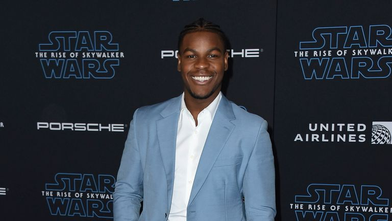 John Boyega at the Rise of Skywalker premiere