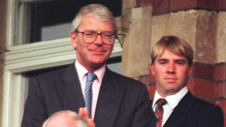 File photo dated 25/08/96 of the then Prime Minister John Major enjoying the day's play at the Oval as Pakistan played England in the third and final test between the two sides. Newly released records in the National Archives reveal that Mr Major missed the chance to see Britain's only gold medal of the 1996 Olympic Games in Atlanta because he preferred to watch cricket