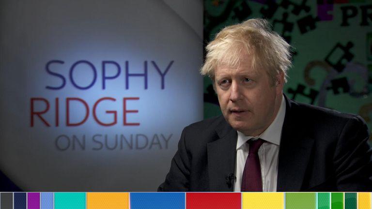 Boris Johnson said there would not be checks on the NI border