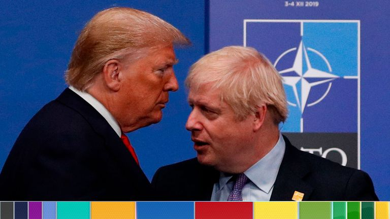 Donald Trump and Boris Johnson met on Tuesday evening and discussed trade