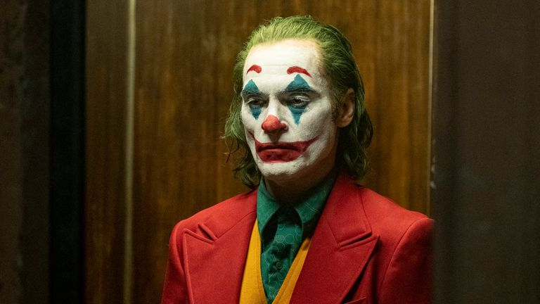 JOAQUIN PHOENIX as Joker. Pic: Warner Bros/Entertainment Inc