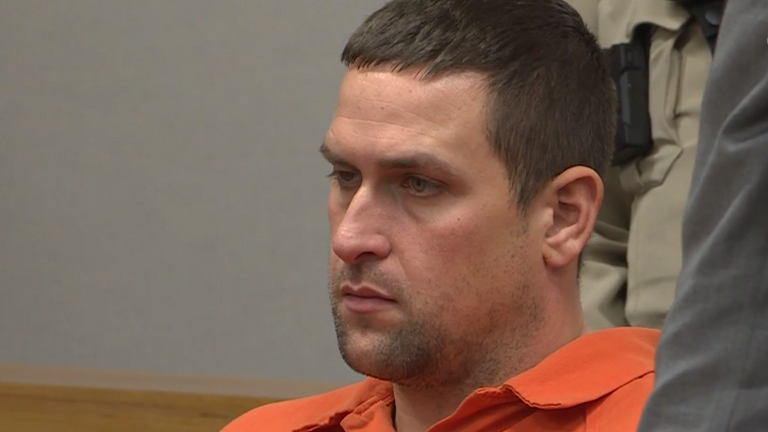 Joshua Lee Hunsucker, who is accused of first degree murder for using eye drops to kill Stacy Robinson