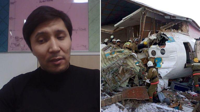 Aslan Nazaraliyev survived the plane crash