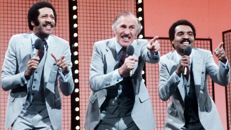 Derek Griffiths, Bruce Forsyth and Kenny Lynch in 'Bruce Forsyth's Big Night Out', 1978