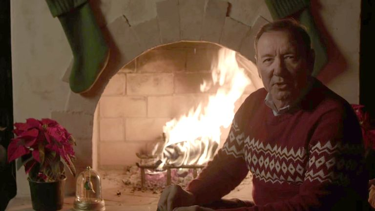 Kevin Spacey posted a Christmas Eve vide on his YouTube channel