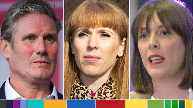 Kier Starmer, Angela Rayner and Jess Phillips