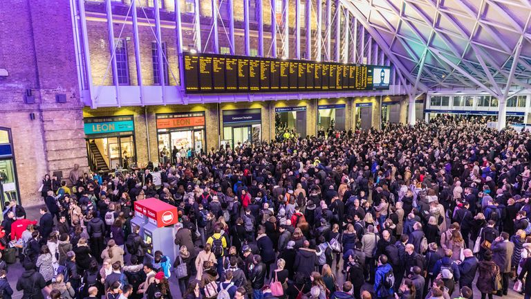 Rail passengers could also face disruption, including those travelling from King's Cross