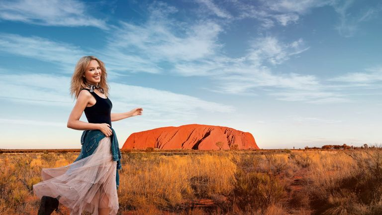Kylie Minogue stars in an advert for Tourism Australia