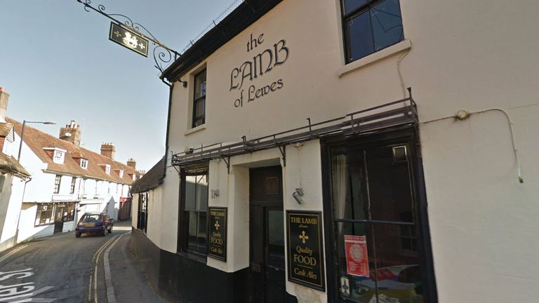 Anthony Knott was last seen at The Lamb in Lewes at 7.30pm on Friday. Pic: Google Streetview