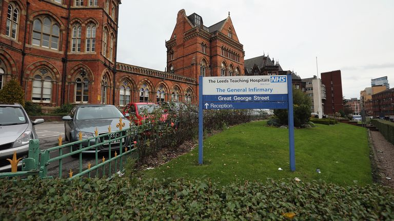 A general view of the Leeds General Infirmary on October 31, 2012 in Leeds, United Kingdom.    According to a BBC report, a former porter has alleged that Jimmy Savile was given access to nurses accommodation at the hospital where he would regularly be seen with teenage girls. One year after the death of the television and radio presenter a UK wide investigation into alleged child abuse has been launched with many alleged victims coming forward.