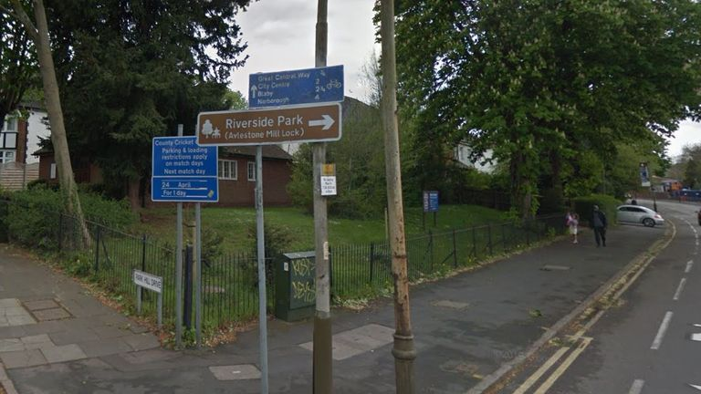 The collision happened near the corner of Aylestone Road and Park Hill Drive Pic: Google Street View