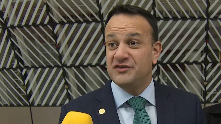 Leo Varadkar reacts to Conservative Party victory in UK general election