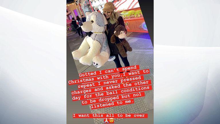 Lewis Burton posted this Christmas message to his partner Caroline Flack