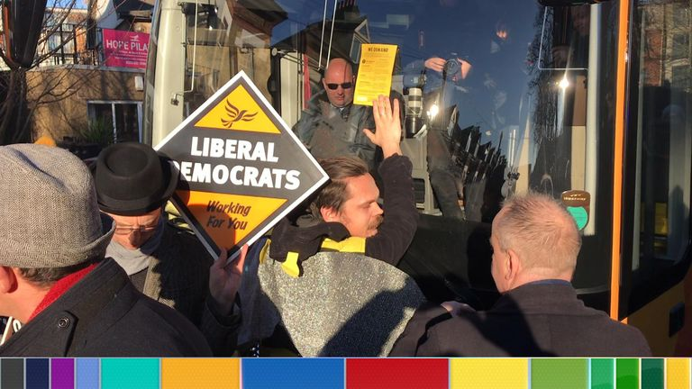 The Lib Dems were targeted outside a youth centre in South London