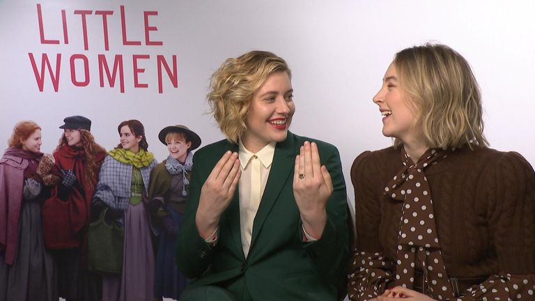 Little Women junket with Saoirse Ronan and Greta Gerwig