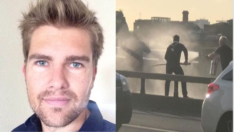 Darryn Frost used a narwhal tusk to fend off the London Bridge attacker