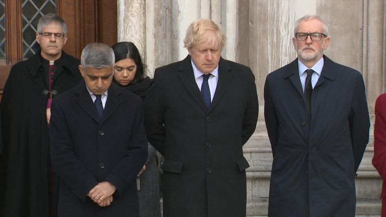 A minute's silence was held in memory of those who died and to pay tribute to those who risked their lives in responding to the London Bridge attack.