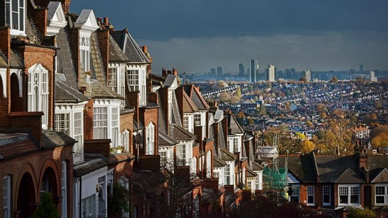 In London, the typical cost of a home is now £479,000 (Muswell hill looking towards Crouch End)