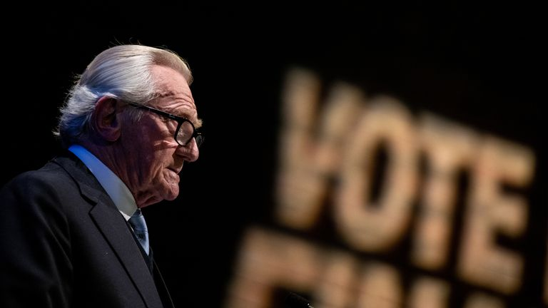 Lord Heseltine admitted his message hadn't got through