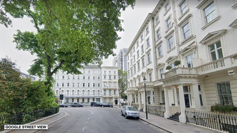 The burglary took place in Lowndes Square, Kensington