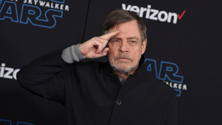 Mark Hamill at the Rise of Skywalker premiere