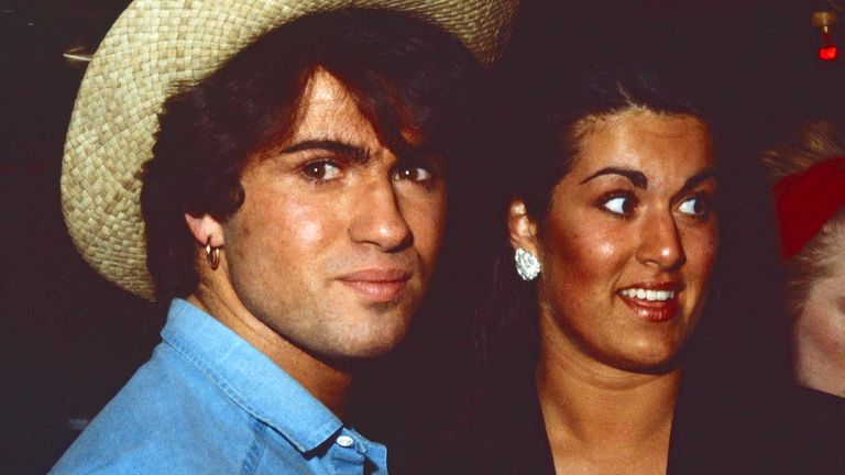 George Michael with sister Melanie Panayiotou in the early 1980s