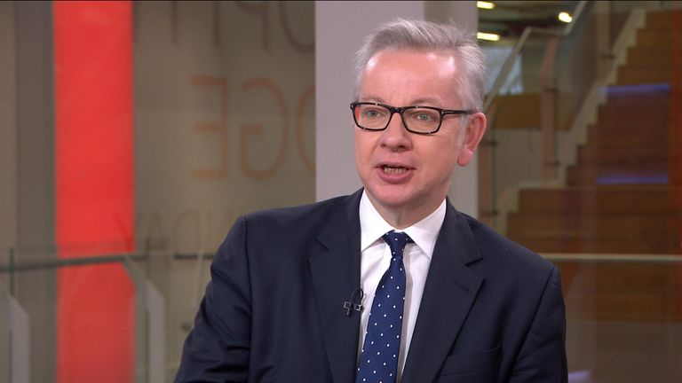 Gove 'absolutely' rules out government allowing second Scottish independence referendum