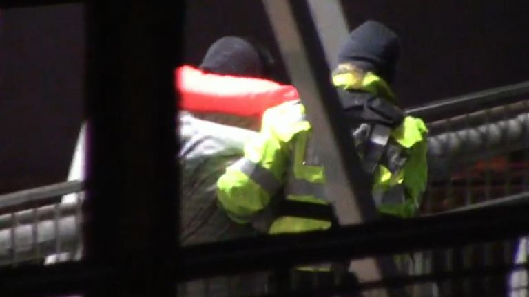 The suspected migrants were intercepted in the early hours of Tuesday