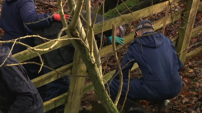 Police began their search in remote countryside beside the M40 near Beaconsfield two weeks ago