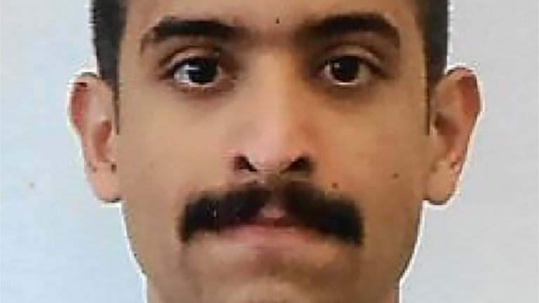 Royal Saudi Air Force 2nd Lieutenant Mohammed Saeed Alshamrani is accused of killing three people in the shooting
