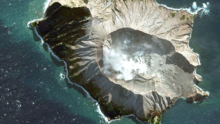White Island volcano in the Bay of Plenty, New Zealand. Pic: © DigitalGlobe/Maxar