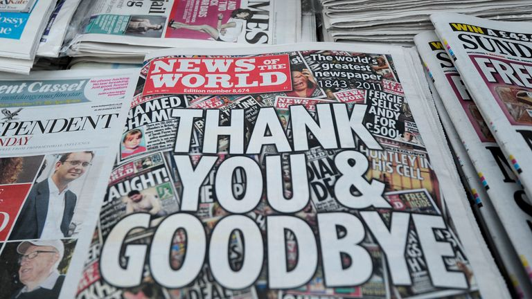 The News of the World's final edition