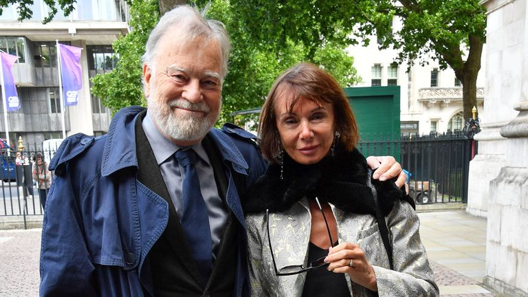 Nicky Henson and Marguerite Porter at Ronnie Corbett Memorial Service, Westminster Abbey, London, UK - 07 Jun 2017