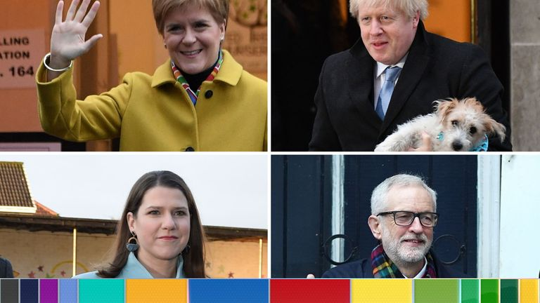Nicola, Sturgeon, Boris Johnson, Jo Swinson and Jeremy Corbyn have all voted in the election