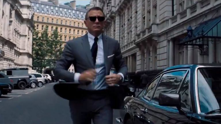 Daniel Craig plays James Bond for the fifth time in No Time To Die. Pic: MGM