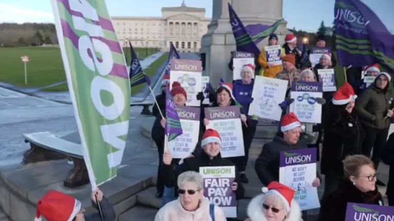 Health workers demanding parity with their counterparts across the UK