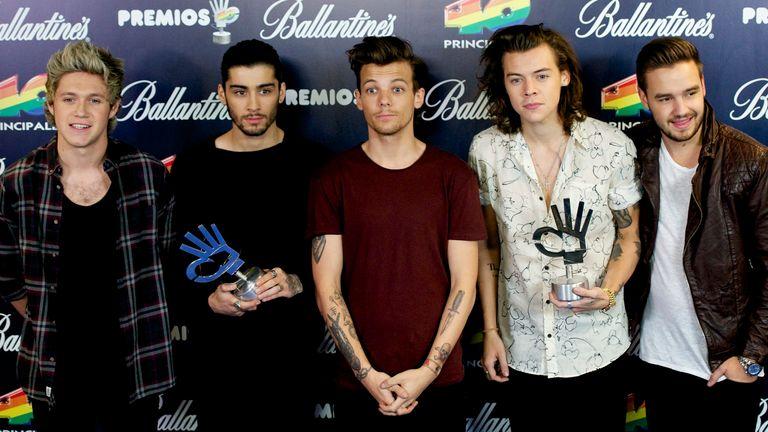 One Direction: Niall Horan, Zayn Malik, Louis Tomlinson, Harry Styles and Liam Payne