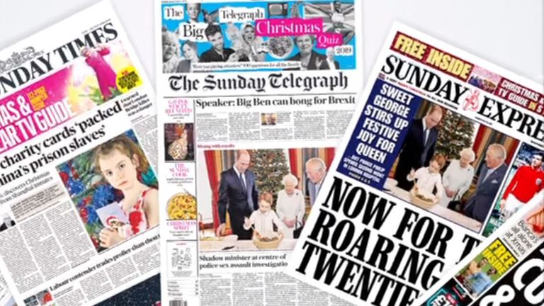 Sunday's front pages