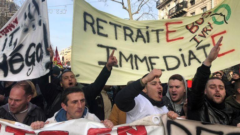 Workers are striking across the country, including in Paris