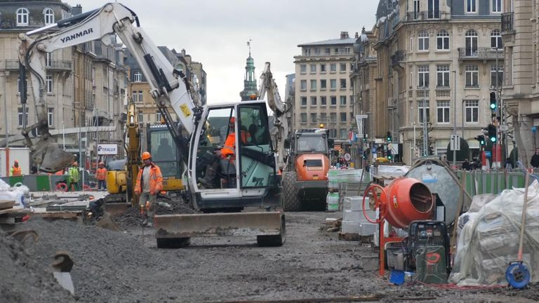 Work in under way to increase the number of tram lines