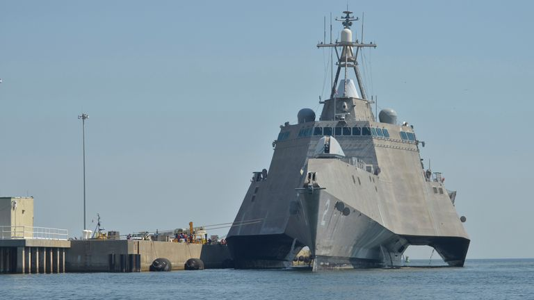 A combat ship at Naval Air Station Pensacola. File pic